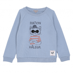 Sweatshirt bleuet tout doux pour enfants de la marque Emile et Ida au meilleur prix