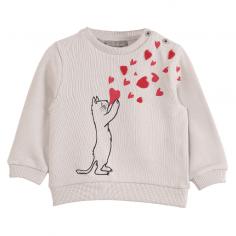 Sweatshirt pour petites filles tout doux en coton de la marque française Emile et ida
