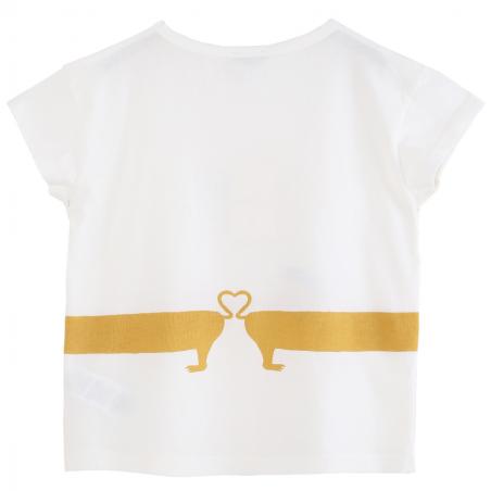 Tee-shirt pour bébés de la marque Emile et Ida avec un imprimé exclusif