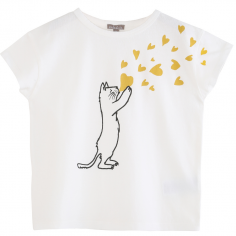 Très beau tee-shirt pour cet été avec imprimé chat pour enfants de la marque Emile et Ida