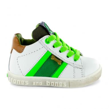 Chaussures blanches à zip pour enfants Stones and Bones