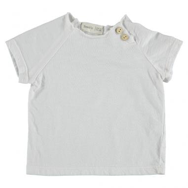 Tee-shirt en coton bio de couleur blanc pour enfants de la marque Bean's Barcelona au meilleur prix