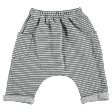 Pantalon pour enfants à rayures en coton bio tout doux de la marque Bean's Barcelona