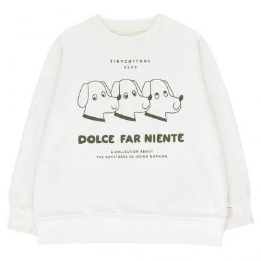 Joli sweatshirt blanc pour bébés et enfants de la marque Tinycottons en coton pima et en coton organique au meilleur prix