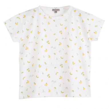 Joli tee-shirt blanc à imprimé fruits en all-over de la marque parisienne Emile et Ida au meilleur prix