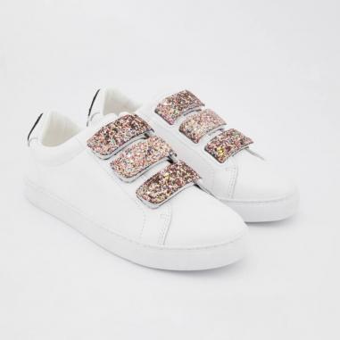 Sneakers originales de couleur blanche pour femmes de la marque Bons Baisers de Paname