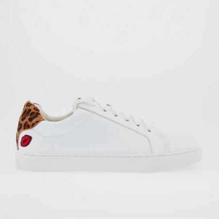 Sublime paire de sneakers en cuir de la marque Parisienne Bons Baisers de Paname