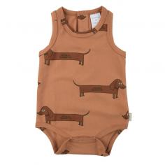 Joli body marron d'été pour bébés de la marque Tinycottons en coton pima à petit prix