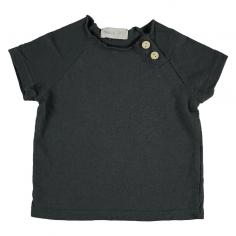 Tee-shirt de couleur anthracite unie pour bébés et enfants de la marque Bean's Barcelona au meilleur prix