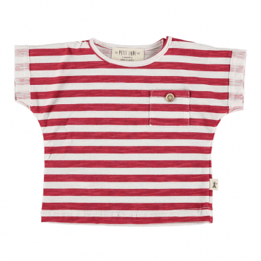 Tee-shirt de couleur blanc et rouge pour enfants de la marque Petit indi au meilleur prix