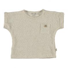 Tee-shirt de couleur écrue pour bébés et enfants de la marque Petit Indi à petit prix