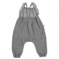 Adorable salopette pour enfants de couleur gris de la marque petit indi