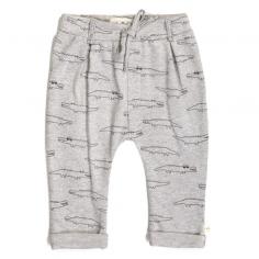 Pantalon de couleur gris clair avec imprimé crocodiles pour enfants de la marque Les petites choses au meilleur prix