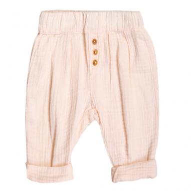 Pantalon de couleur rose pour enfants en coton très fin de la marque Les petites choses