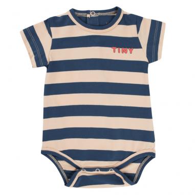 Body pour bébés à rayures de couleur écru et marine de la marque Tinycottons à petit prix