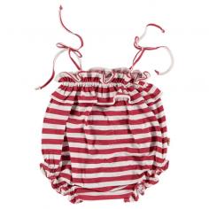 Sublime barboteuse pour bébés de couleur blanche et rouge de la marque Petit Indi en coton tout doux à petit prix