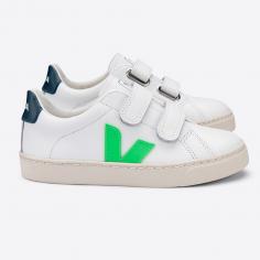 Sneakers esplar en cuir vertes pour enfants de la marque Veja