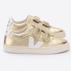 jolies sneakers Veja pour enfants de couleur doré brillant de la nouvelle collection printemps été