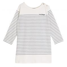 Robe pour petites filles à rayures marine et blanches de la marque française Emile et ida au meilleur prix