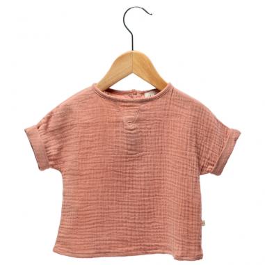 Tee-shirt en gaze de coton terracotta pour enfants Les Petites Choses
