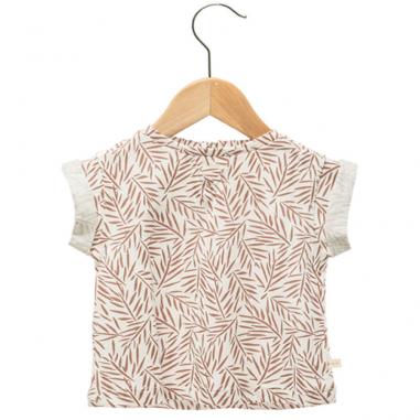 Joli tee-shirt de couleur blanc à motifs palmiers en all-over pour enfants de la marque Les Petites Choses au meilleur prix