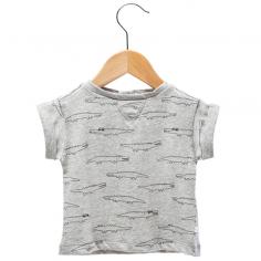 Tee-shirt de couleur gris clair à motif crocodiles pour enfants de la marque Les Petites Choses au meilleur prix