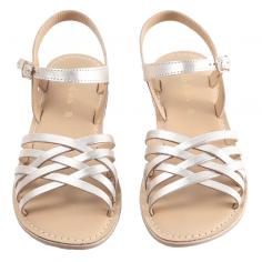 Sandales de couleur or joliment tressées sur le devant pour petites filles de la marque parisienne Emile et Ida au meilleur prix