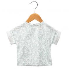 Tee-shirt blanc et vert...