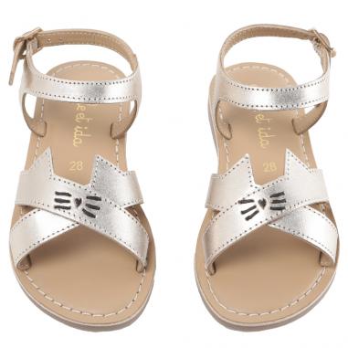 Belle paire de sandales pour enfants de couleur or de la marque Emile et Ida au meilleur prix