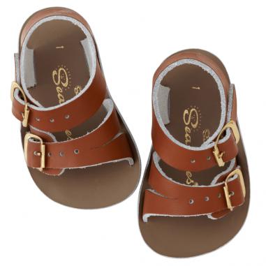 Sandales pour bébés de couleur camel à deux brides réglables de la marque Salt-Water au meilleur prix