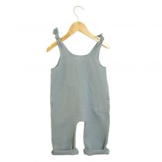Jolie barboteuse de couleur bleu pour bébés de la marque Les Petites Choses au meilleur prix