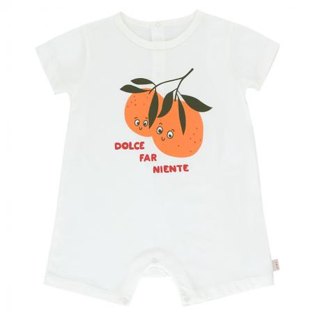 Jolie barboteuse de couleur blanche pour bébés de la marque Tinycottons au meilleur prix