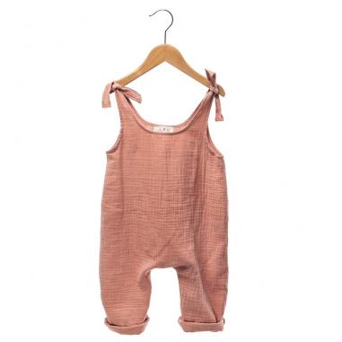 Cette jolie barboteuse est de couleur terracotta unie pour bebes de la marque Les Petites Choses à petit prix