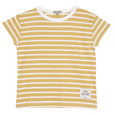 Joli tee-shirt pour enfants à rayures de couleur jaune de la marque Emile et Ida