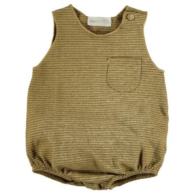 Barboteuse pour bébés dès la naissance de couleur moutarde de la marque Bean's Barcelona