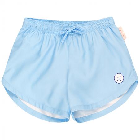 Short de bain de couleur bleu ciel de la marque Tinycottons