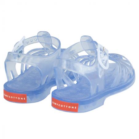 Jolies sandales de couleur transparentes pour enfants de la marque Tinycottons