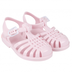 Petite paire de sandales waterproof pour enfants de couleur rose de la collection été Tinycottons