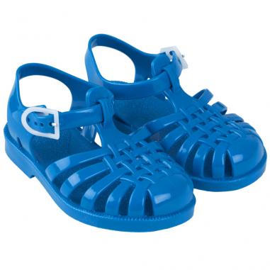 Sandales de couleur bleu en PVC recyclé pour enfants de la collection été 2020 Tinycottons