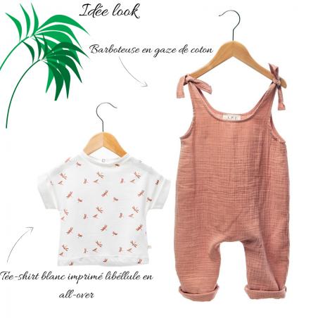 Look barboteuse de couleur terracotta pour enfants de la marque Les Petites Choses