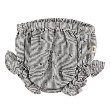 Bloomer à froufrous de couleur gris clair pour petites filles de la marque Petit Indi au meilleur prix