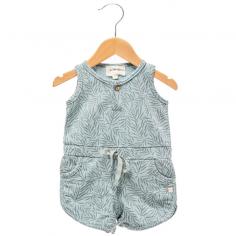 Jolie combishort de couleur bleu vert pour petites filles de la marque Les Petites Choses au meilleur prix