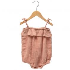 Barboteuse de couleur terracotta pour bébés de la marque Les Petites Choses au meilleur prix
