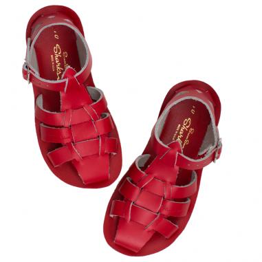 Sandales de couleur rouge pour enfants de la marque Salt-Water au meilleur prix