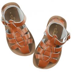 Sublime paire de sandales souples de couleur camel pour enfants de la marque Salt-Water à petit prix