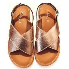sandales de couleur doré pour enfants et femmes de la marque L'atelier tropezien au meilleur prix