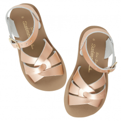 Sandales de couleur rose poudré pour enfants en cuir de la marque Salt-Water au meilleur prix à toulouse