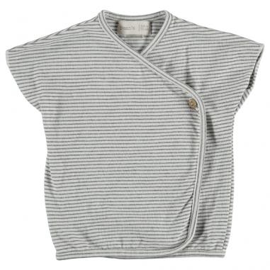 Joli tee-shirt à rayures à coupe cache-coeur pour bébés de la marque Bean's Barcelona au meilleur prix