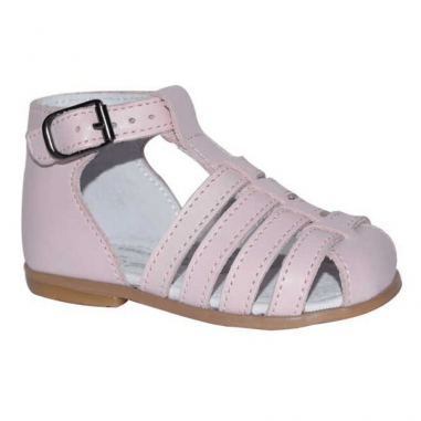 Sandales de couleur rose poudré pour petites filles de la collection été Little Mary au meilleur prix