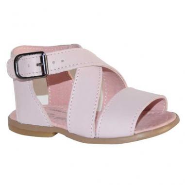 Jolie paire de sandales pour petites filles de couleur rose poudré de la marque Little Mary